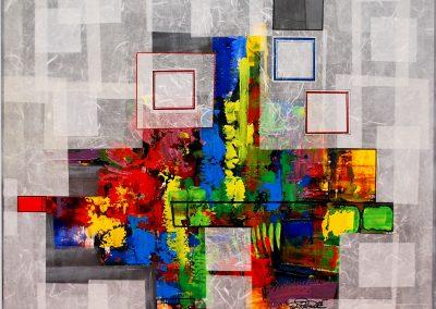 01 - Farbsinfonie Nr. 1 I - Mischtechnik auf Leinwand - 90 x 80 cm
