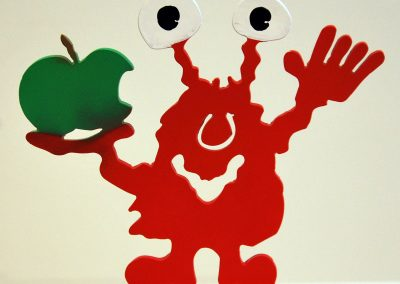 Monster mit Apfel