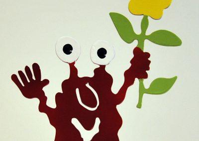 Monster mit Blume