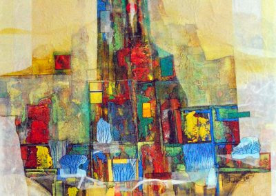 32 - Farbkomposition zum Winter - Acryl auf Leinwand - 140 x 100 cm