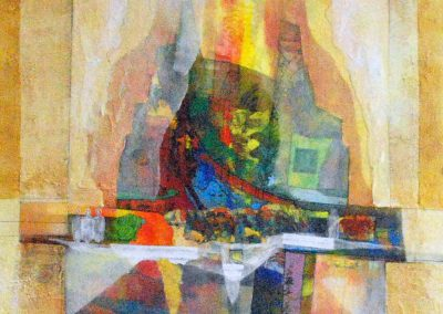 35 - Farbszenen zu Verdi (Maskenball, Aufbruch) - Acryl auf Leinwand - 90 x 80 cm