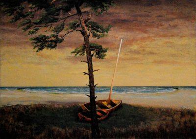Bäume am Meer 1 - Acryl auf Leinwand - 80 x 110 cm