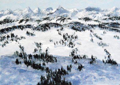 Berge Klein 3 - Acryl auf Holz - 30 x 45 cm