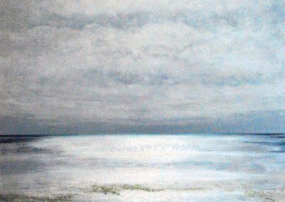 Bilder vom Meer G5 (grau) - Acryl auf Leinwand - 100 x 100 cm