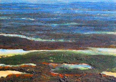 Bilder vom Meer IX (blau) - Acryl auf Leinwand - 80 x 80 cm