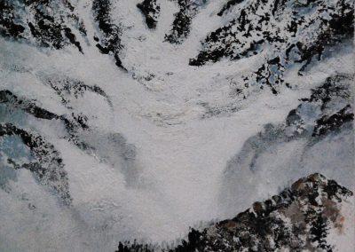 Gebirge 1 - Acryl auf Leinwand - 100 x 80 cm