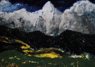 Gebirgslandschaft - Acryl auf Leinwand - 50 x 60 cm