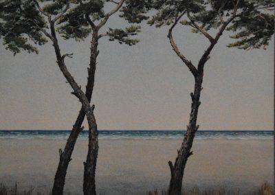 Pinien am Meer Nr 14 - Acryl auf Leinwand - 80 x  80 cm