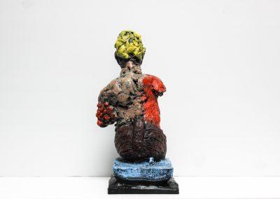 Skulptur - Odysseus 2014 - Bronze Handbemalt - 35 x 18 x 20 cm - 3