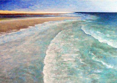 Strand 1 - Acryl auf Leinwand - 80 x 120 cm