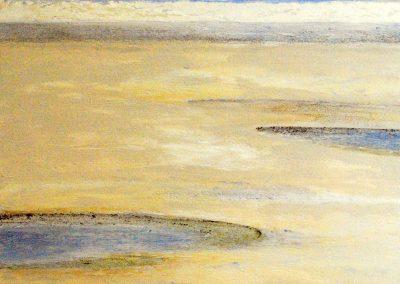 Untiefen Blau - Acryl auf Leinwand - 100 x 100 cm