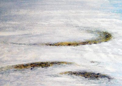 Untiefen Hell - Acryl auf Leinwand - 100 x 100 cm