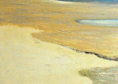 Untiefen Watt beige - Acryl auf Leinwand - 80 x 80 cm (2)