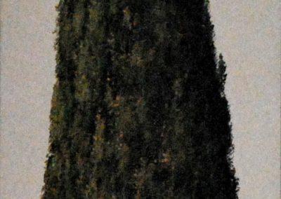 Zypresse 1 - Acryl auf Leinwand - 35 x 120 cm