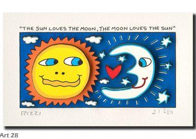 The sun loves the moon ...